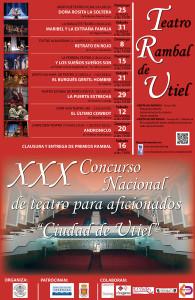 El concurso Nacional de Teatro Ciudad de Utiel, en su XXX Edición