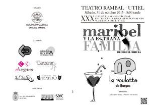 Obra de Teatro: Maribel y la Extraña Familia_3 de Octubre