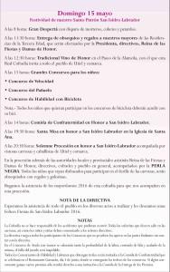 Programa de las Fiestas San Isidro 2016