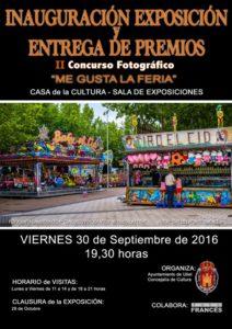 Entrega de Premios e Inauguración del II Concurso fotográfico Me Gusta la Feria