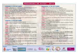 Utiel Gastronómica_Programa y Expositores