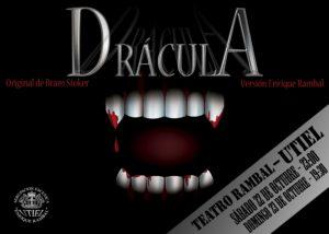 Drácula, obra a representar por Agrupación Escénica Enrique Rambal