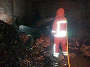 Incendio en una planta baja de Utiel