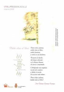 Poesía en la Calle, Utiel ciudad lectora