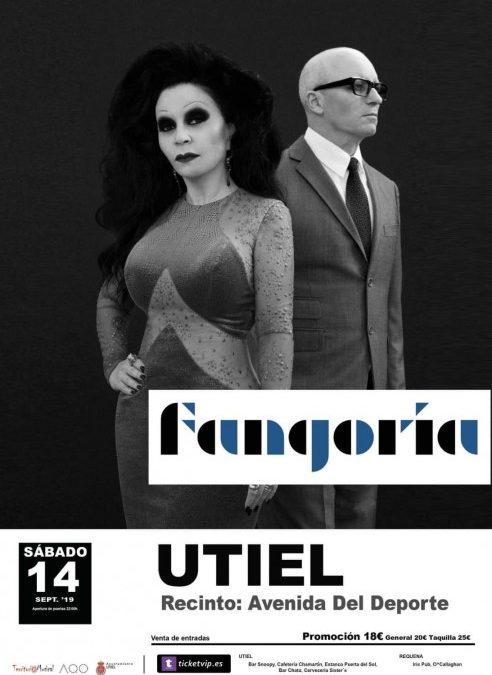 Fangoria actuará en la Feria y Fiestas de Utiel 2019