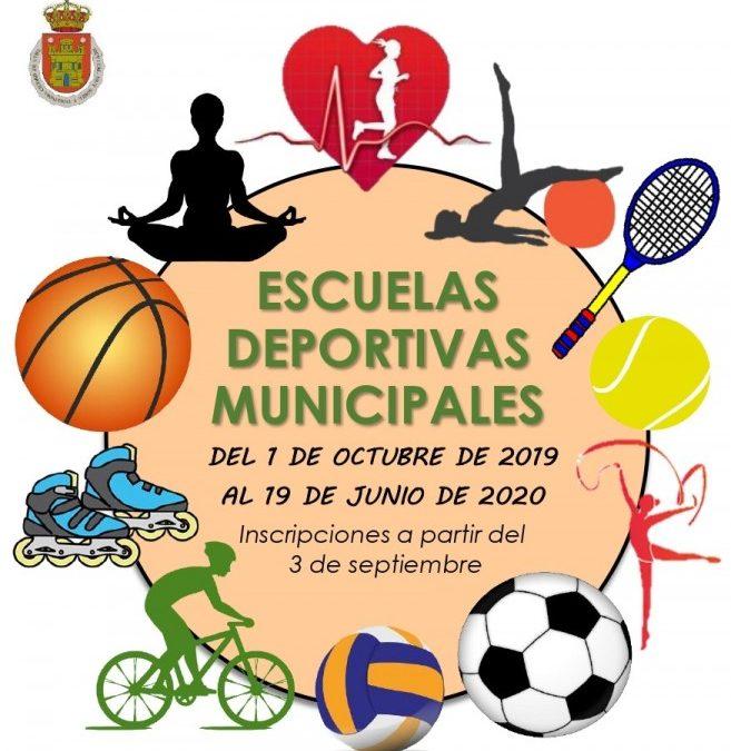 Las Escuelas Deportivas Municipales de Utiel abren el plazo de inscripción el 3 de septiembre
