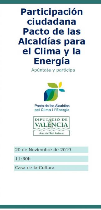 Utiel acogerá la jornada de participación ciudadana sobre el clima y la energía sostenible