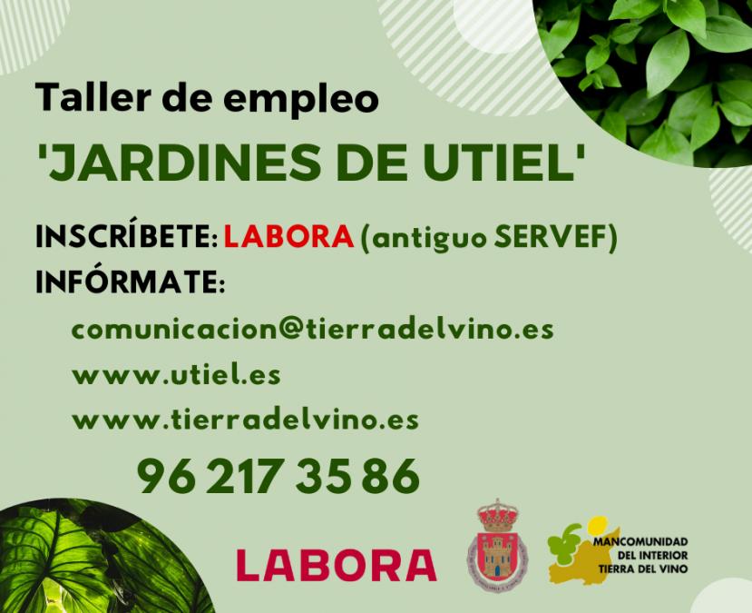 LABORA concede a Utiel un taller de empleo sobre jardinería