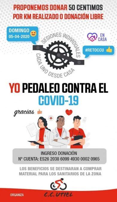 Éxito de participación en el evento solidario organizado por el Club Ciclista Utiel