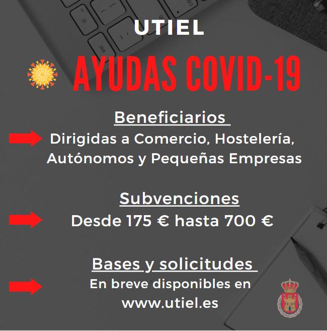 El Ayuntamiento de Utiel destina 225.000 € a ayudas dirigidas a microempresas del municipio para hacer frente a la crisis COVID-19