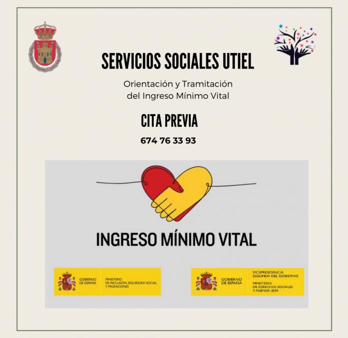 El Ayuntamiento de Utiel ofrece el servicio de orientación y tramitación del Ingreso Mínimo Vital