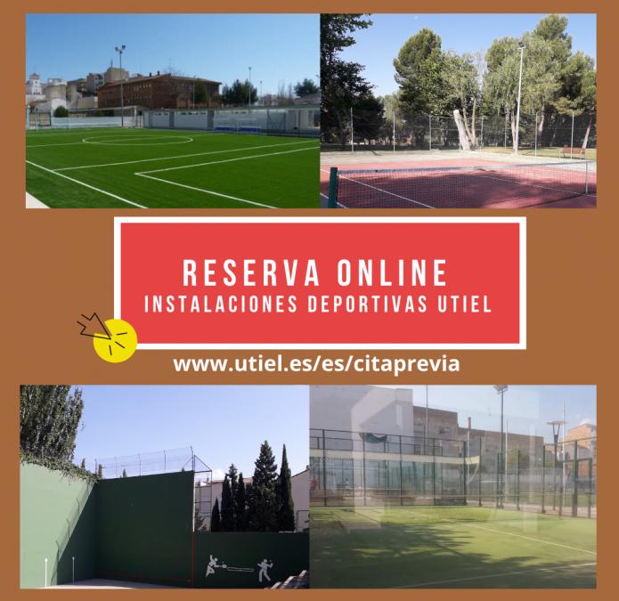 El Ayuntamiento de Utiel habilita la reserva online de las pistas deportivas municipales