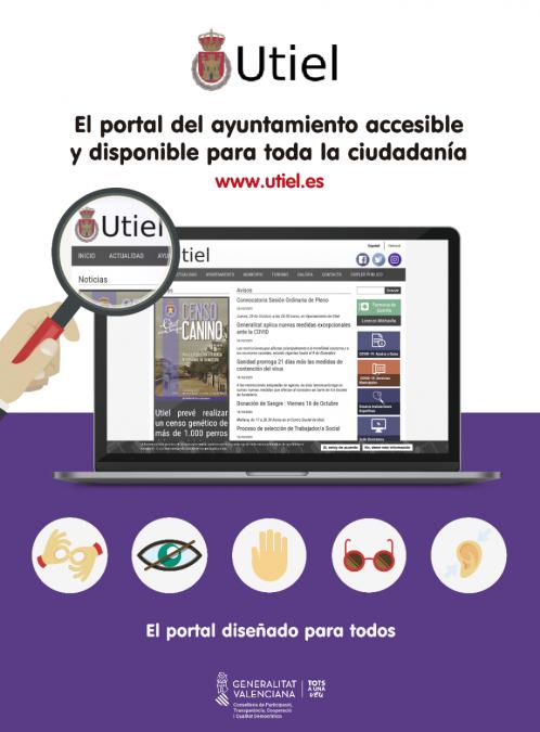 El portal municipal de Utiel implanta un sistema avanzado de accesibilidad web