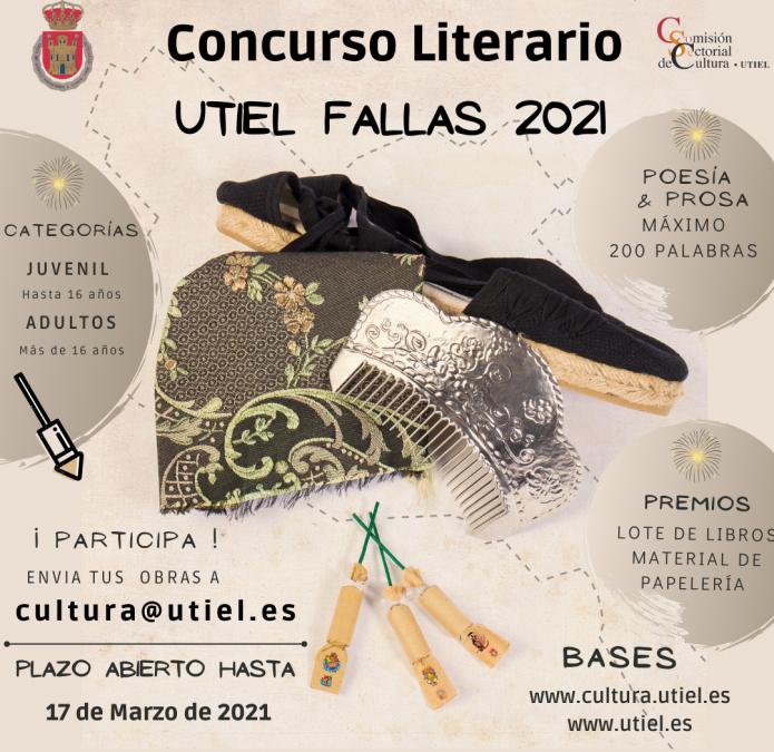"""Cultura Utiel convoca el Concurso Literario """"Fallas 2021"""""""