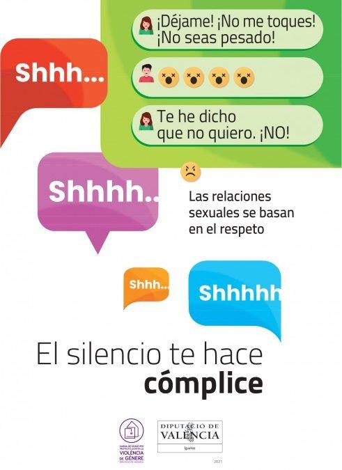"""Utiel se suma a la campaña """"El silencio te hace cómplice"""" contra la violencia de género"""