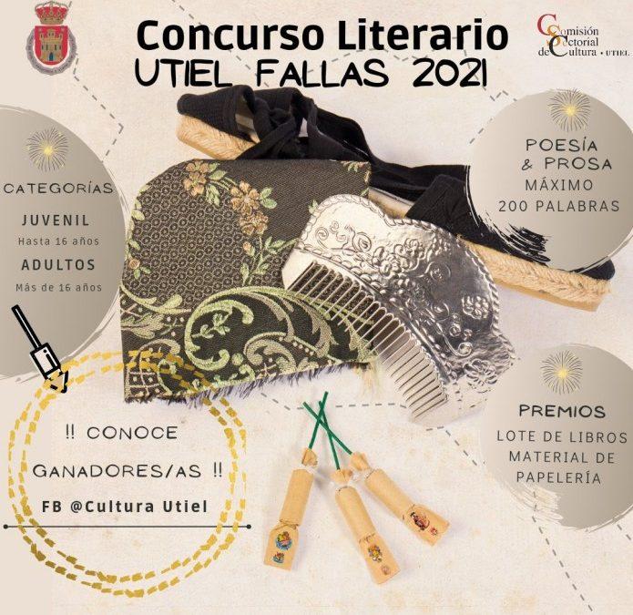Premios Concurso Literario Utiel Fallas 2021