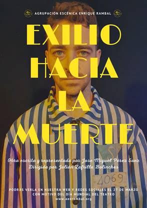 """Estreno de la obra teatral """"exilio hacia la muerte"""" del autor novel utielano Jose Miguel Pérez Sanz"""