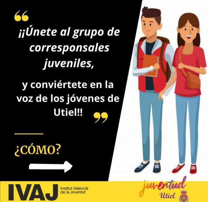 """Utiel da voz a los jóvenes del municipio con la figura del """"Corresponsal Juvenil"""""""