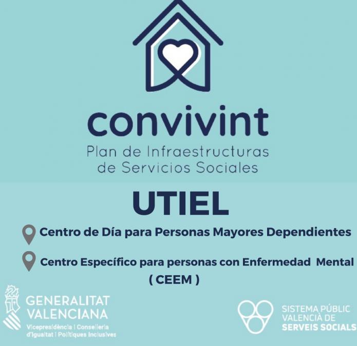 """Utiel contará con un centro de día para mayores y una residencia para personas con enfermedad mental a través del Plan """"Convivint"""""""