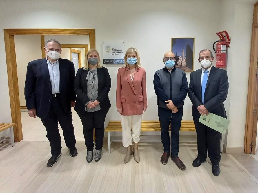 La Consellera de Justicia, Gabriela Bravo anuncia la implantación en Utiel de un proyecto piloto de Oficina Judicial