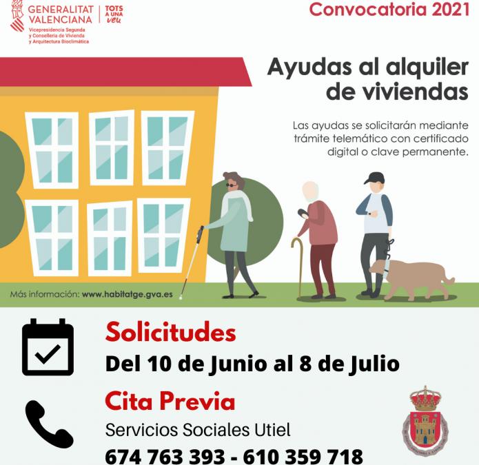 Se convocan las ayudas al alquiler de vivienda 2021