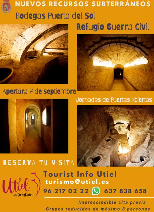 Turismo Utiel presentará los nuevos recursos subterráneos con Jornadas de Puertas Abiertas