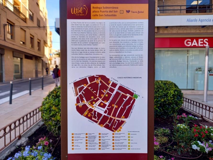 Utiel estrena señalización turística en su casco histórico